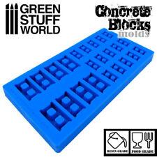 MOULE en silicone BLOC DE BETON - brique modélisme miniature résine bricks 40k