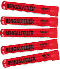 Bengalfeuer/Bengalos in Rot-Blinker/ 5 St. Gesamt