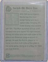 1/1 MICKEY MANTLE 1997 SCORE BOARD CARD #47 PRINTING PLATE NY YANKEES HOF 1 OF 1