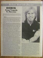 Bay City Rollers, Derek Longmuir, Full Page Vintage Clipping