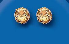Unikat Wunschliste 9 karat Gelbgold Citrin 5mm Runde Ohrstecker AP0015