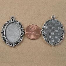 4pcs tibetan Silver Tone Lacework oval Picture Frame H3996