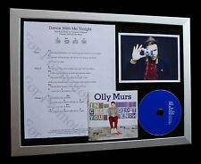 OLLY MURS Dance With Me Tonight LTD QUALITY CD FRAMED DISPLAY+FAST GLOBAL SHIP!!