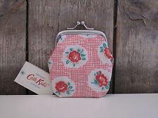 Cath Kidston - mini Clasp purse - kleines Portmonee - Wachstuch - lattice rose