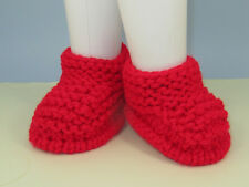 PRINTED INSTRUCTIONS SUPER CHUNKY SIMPLE GARTER STITCH SLIPPERS KNITTING PATTERN