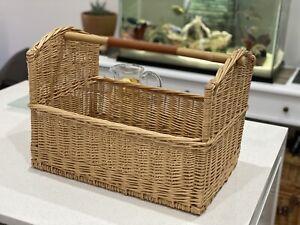 Hermes Wicker Basket