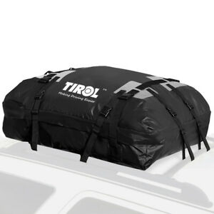 Black Waterproof SUV Roof Top Cargo Carrier Travel Car Storage Bag Luggage Bag