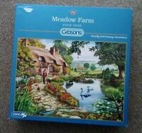 GIBSONS JIGSAW PUZZLE 1000 PIECES MEADOW FARM BY STEVE CRISP