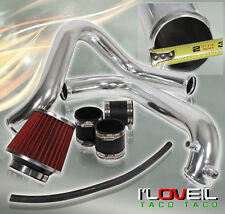 "2001-2005 HONDA CIVIC DX LX 2.5"" CHROME PIPING COLD AIR INTAKE SYSTEM + FILTER"