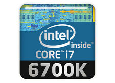 "Intel Core i7 6700K 1""x1"" Chrome Domed Case Badge / Sticker Logo"