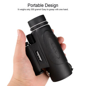 100X90 BAK4 HD Monocular Telescope+Phone Clip+Tripod Waterproof PVC Astronomical