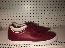 PUMA Match Vulc Mens Leather Athletic Lifestyle Shoes Size 8.5 Burgundy