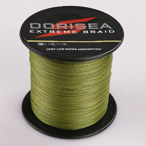 Dorisea 100M/109Yards 80lbs 0.48mm Extreme Army Green Braided Fishing Line