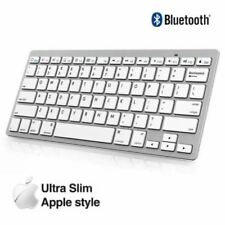 NUOVA Tastiera Bluetooth Wireless Sottile Per iPad iMac Tablet PC Android Telefono UK