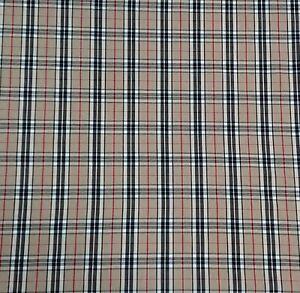 Tartan - Burberry Cotton Blend Poplin Dress Bunting Craft Fabrics 150 cm wide