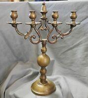 Kerzenhalter Leuchter 4-flammig, Messing, Barockstil, 35 cm
