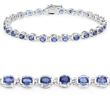 925 Sterling Silver Bracelet Kyanite Oval 7.02 ct Genuine Gemstone 7.25 inches