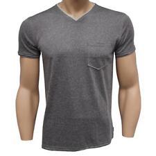 Oakley RETRO V TOP T-Shirt Size XL Shadow Grey Mens V Neck Slim Fit Tee