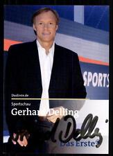 Gerhard Delling Sportschau Autogrammkarte Original Signiert ## BC 30950