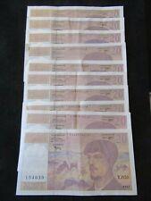 Lot 10 X 20 Francs Debussy bel état SUP