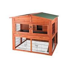 Käfige, Ausläufe & Gehege für Klein- & Nagetiere aus Holz mit 2 Ebenen für Meerschweinchen