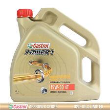Castrol Power 1 4T 15w-50 semi synthetic bike engine oil - 4 Litres