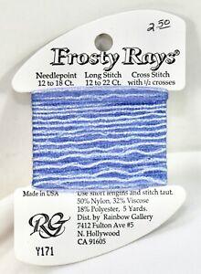Rainbow Gallery Frosty Rays polyester/nylon/viscose 5 yds Y171 blue