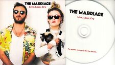 THE MARRIAGE Live Love Cry 2018 UK 1-trk promo test CD Adamson Big Country + PR