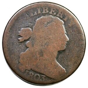 1803 Sm Date, Lg Fraction Draped Bust Large Cent Coin 1c