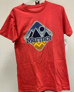 Marmot Sweeney Ridge Men's Short Sleeve T-shirt; Color: Red Heather |Size: Large