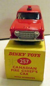 Dinky Toys, 257 Nash Rambler Fire Chief's Car,  (2)   original