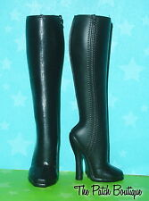 MONSTER HIGH HEADMISTRESS BLOODGOOD REPLACEMENT TALL BLACK RIDING BOOTS SHOES