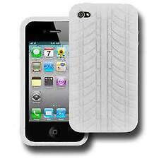 Premium Durable Shock Resistant White Silicone Skin Case Back Cover for iPhone 4