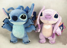 New 2pcs Exclusive Disneyland Paris Stitch Girlfriend Lilo Angel Plush Toy Doll
