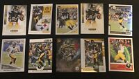 Lot Of 50 Pittsburgh Steelers Cards Plus An Additional 5 Antonio Brown Cards