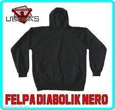 Abbigliamento sportivo FELPA uomo DIABOLIK nero CAPPUCCIO NINJA stadio ULTRAS