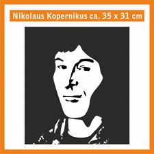 NIKOLAUS KOPERNIKUS Wandtatoo, ca. 35 x 25 cm, Hochleistungsfolie mit Montagep.