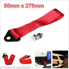 1 x High Strength Nylon Red Vehicle Tow Towing Rope Strap Cable Steel Alloy Bolt