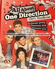 ALL ABOUT ONE DIRECTION Hardcover Book BACKSTAGE Gossip+SUPERSTAR Stats+PICS
