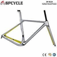 T1000 Carbon Gravel Bike Frame Disc Brake Road Cyclocross Bicycle Frameset BB386