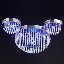 LED Cute Mouse Head Crystal Bedroom Chandelier Cartoon Children Ceiling Lamp