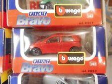 BURAGO FIAT BRAVO  ROSSA COD. 4145 F 1/43  FONDO DI MAGAZZINO VINTAGE TOYS