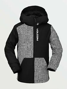 2021 NWT BOYS VOLCOM VERNON INSULATED JACKET $150 M Black standard fit 2 layers
