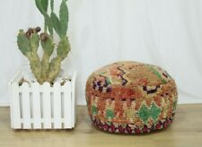 Pouf Moroccan handmade/ Pouf House Circle / Coushion from old Rug