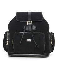 Australia Luxe Collection Black Baldwin Shearling Leather Backpack  Bag NWT