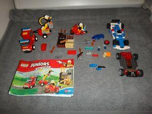 LEGO JUNIORS 10740 EASY TO BUILD W/BOOKLET & BONUS CARS