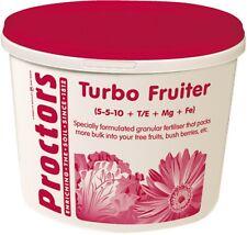 5kg tub of Proctors Turbo soft fruit garden allotment fertiliser in airtight tub