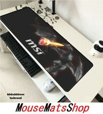 MSI Extra Large Gaming Mouse Mat Pad Anti-Slip For PC Laptop Office Desk 80X30CM