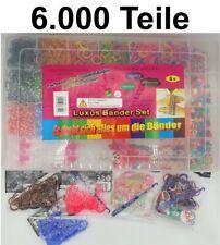 XXL Loom Set 6.000 Bands Loops Gummibänder Armband Webrahmen Bandz Loop Looms