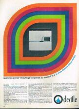 B- Publicité Advertising 1967 Poeles Chauffage à mazout Deville